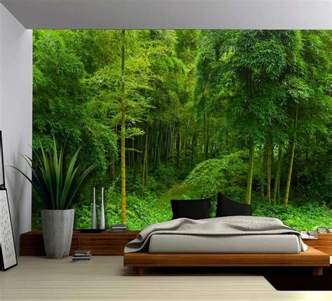 bamboo forest wall mural path in a bamboo forest wall mural