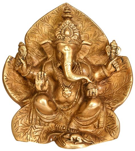 lord ganesha seated on flower