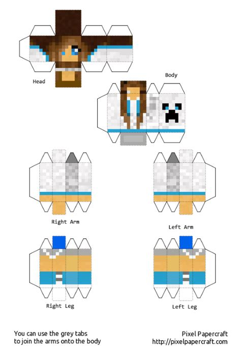 my minecraft skin papercraft by cookiedoart on deviantart