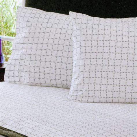 grid bed sheets grey dot grid sheet set modern sheet and pillowcase