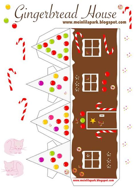 gingerbread house card template 61 best images about gingerbread house printable