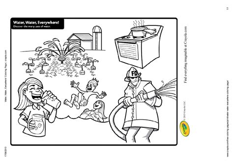 water conservation kids coloring pages sketch coloring page
