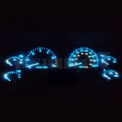 dash cluster gauge aqua ice blue led light kit fits 97 01
