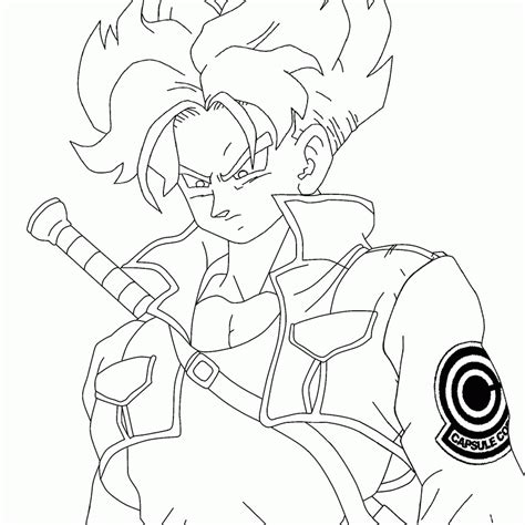 dragon ball z coloring pages of trunks coloring pages of trunks in dbz coloring home