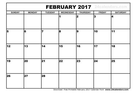 printable calendar blank 2017 2017 february caendar templates print blank calendars