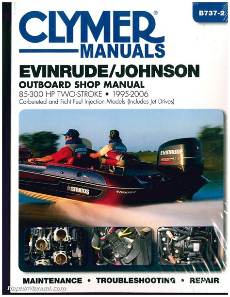 evinrude johnson   hp   clymer outboard