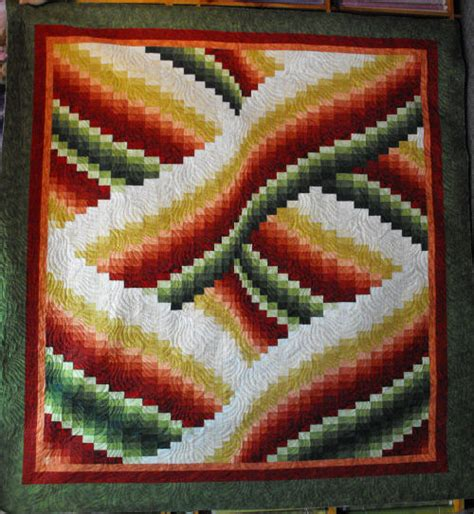 Bargello Patchwork - twisted bargello patchwork wall hanging kit