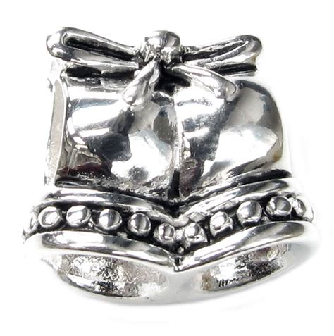 Wedding Bell Pandora Charm by Queenberry 925 Sterling Silver Jingle Wedding Bell