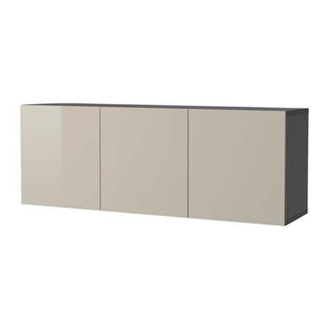 besta cabinet wall mount best 197 wall mounted cabinet combination black brown selsviken high gloss beige ikea