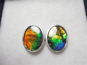 colored gemstones ammolite cufflinks multi colored gemstones by