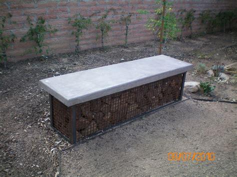 Handmade Garden Bench - handmade gabian garden bench by simpatico builders inc