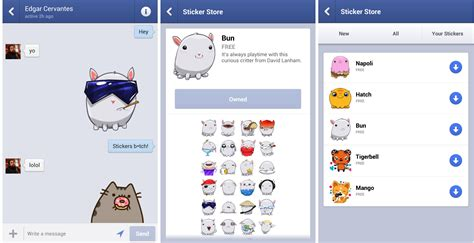 App Stickers Messenger Update Brings Cutesy Stickers To