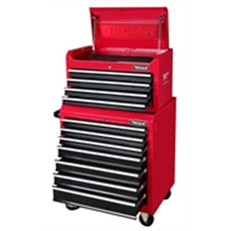 trojan tool chest and cabinet set supatool 5 drawer tool trolley bunnings