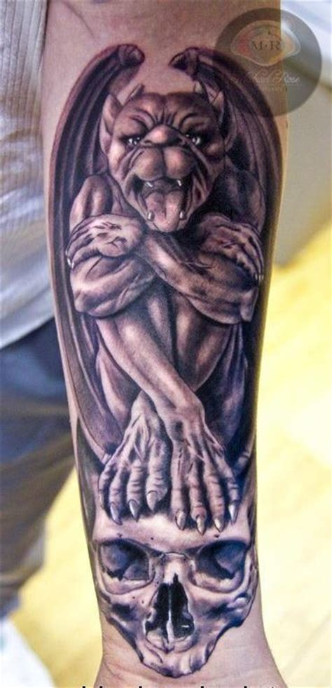 michael rose skull demon gargoyle tattoo tattoos