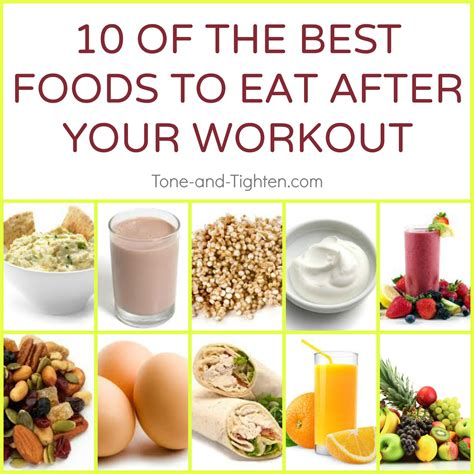 best food to eat after a workout tone and tighten