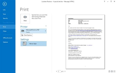 how to save outlook emails as pdf files