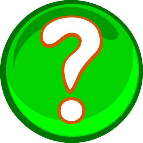 clipart question a green question clip at clker vector clip