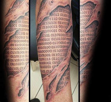 binary tattoo 30 binary designs for coded ink ideas