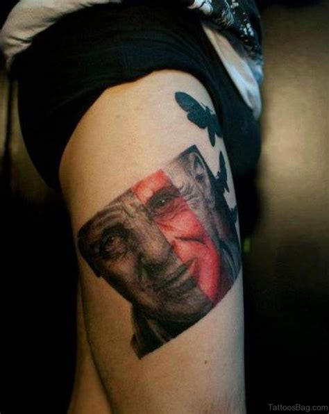 tattoo portrait designs 70 impressive portrait tattoos designs for thigh