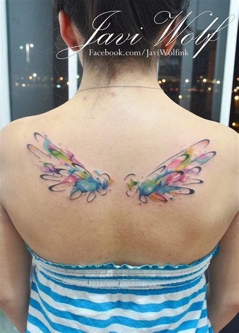 watercolor tattoo warszawa watercolor wings search