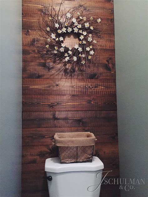bathroom wall wood panels diy wood panel bathroom accent wall j schulman co