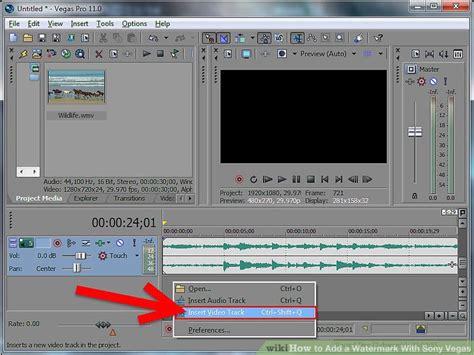 membuat watermark di sony vegas how to add a watermark with sony vegas 15 steps with