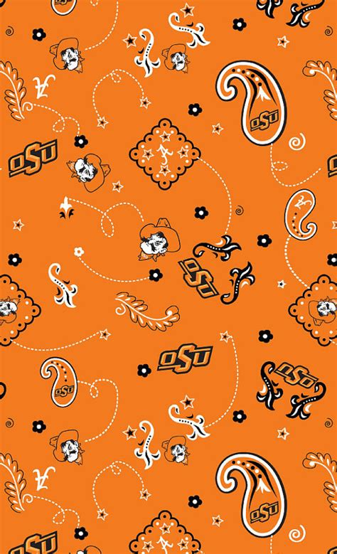 Oklahoma Upholstery by Oklahoma State Cowboys Osu Cotton Fabric 1 Yard Sports Team