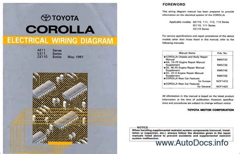 small engine service manuals 1997 toyota corolla electronic throttle toyota corolla repair manual order download