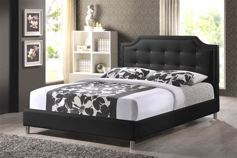 Bed With Padded Headboard by Carlotta Black Modern Bed With Upholstered Headboard