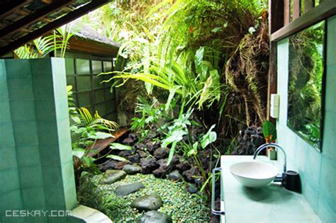 jungle bathroom open air bathrooms natural building blog