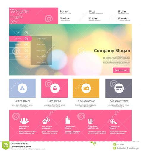 modern design elements flat modern web design elements stock vector image 45971590