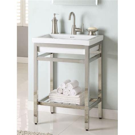 Stainless Steel Bathroom Vanities Bathroom Vanities Stainless Steel South 24 Vanity Console By Empire Kitchensource