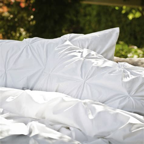 white pintuck comforter 400 thread count pintuck duvet cover the valencia white