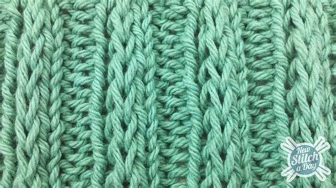 how to do a slip stitch in knitting exle of the fancy slip stitch rib pattern this site