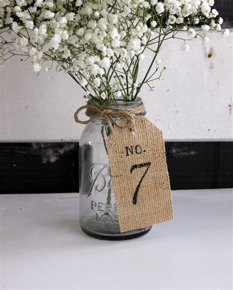 original burlap wedding table numbers burlap by montanasnow