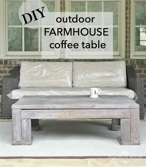 diy outdoor wood coffee table for less