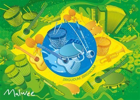 Free Brazilian Music   brazilian music flag adobe illustrator pedro henrique