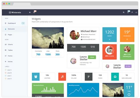 bootstrap jade themes wintermin bootstrap admin theme by geedmo themeforest