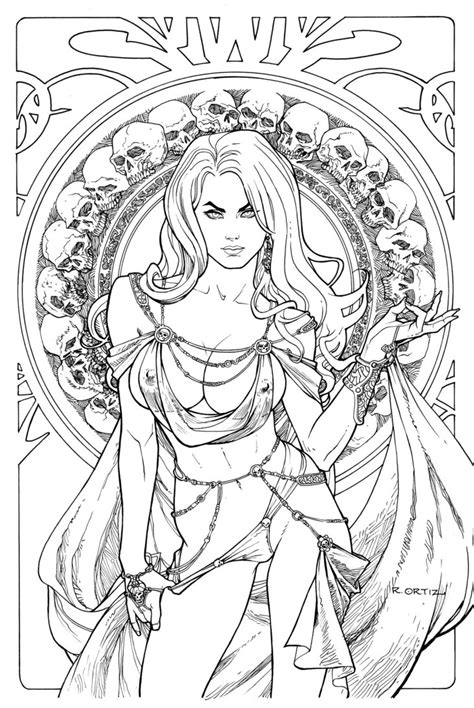 grimm tales coloring book regal edition line by ric1975 on