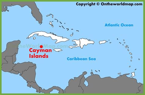 printable map grand cayman island cayman islands location on the caribbean map