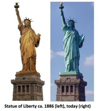 original color of the statue of liberty statue of liberty original color matter