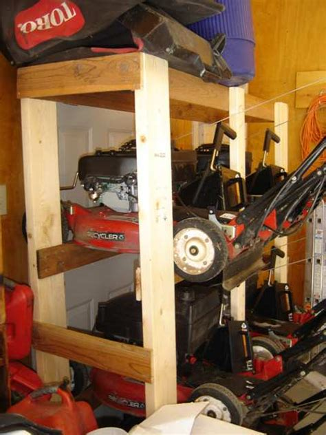Push Mower Garage Storage Ideas Lawn Tractor Storage Ideas Lawn Xcyyxh