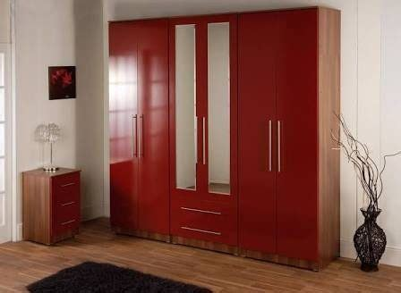 wall color matches  red wardrobe quora