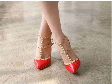 New Sepatu High Heels Brukat Model Tali T 12cm Murah Murah studded heels sepatu wanita 2 model 3 warna quality local brand