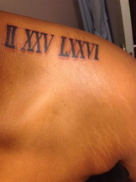 tattoo roman numerals tatts pinterest roman