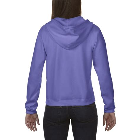 comfort colors violet cc1598 comfort colors zip hooded sweatshirt