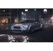 Wallpaper Car Musle Night Dark 2016 Mustang Front