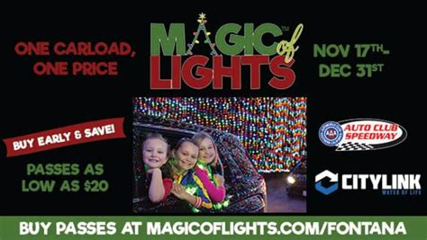 magic of lights auto speedway the magic of lights at auto speedway begins today