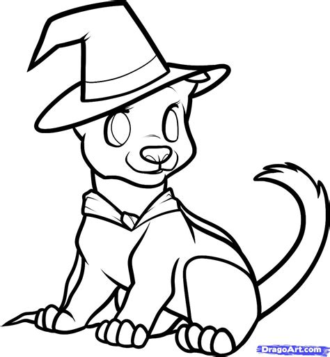 halloween puppy coloring page how to draw a halloween dog halloween dog step by step