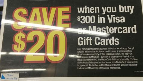Officemax Gift Card Sale - moneymaker officemax 20 off 300 in visa mastercard gift cards